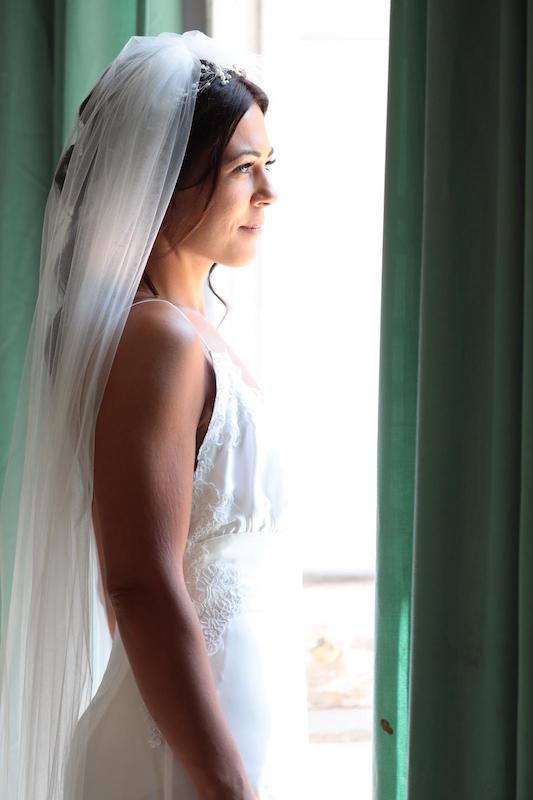 Abito da sposa in bianco